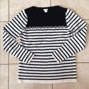 JCrew lightweight striped sweater- small